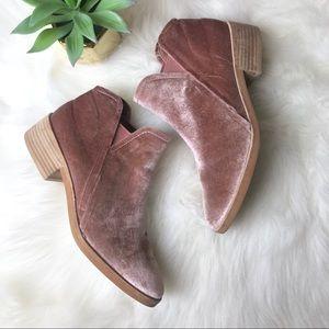 Dolce Vita (L2) Blush Velvet Ankle Boots Booties